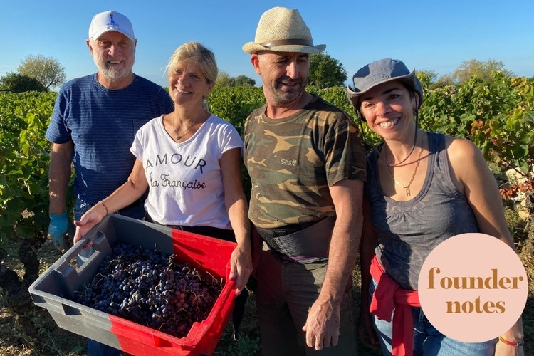 Hand Harvesting with Christine and Franck owners of Domaine Avela one of our new domaines