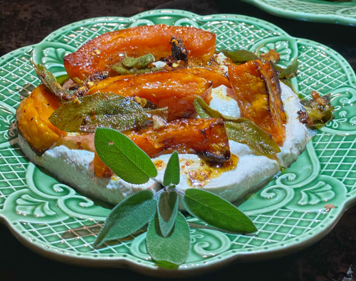 Vegetarian or Vegan Sage Butternut Squash